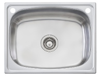 Appliances Online Oliveri TI45SOF 45L Single Inset Laundry Tub with Rinse Bypass Kit and Overflow