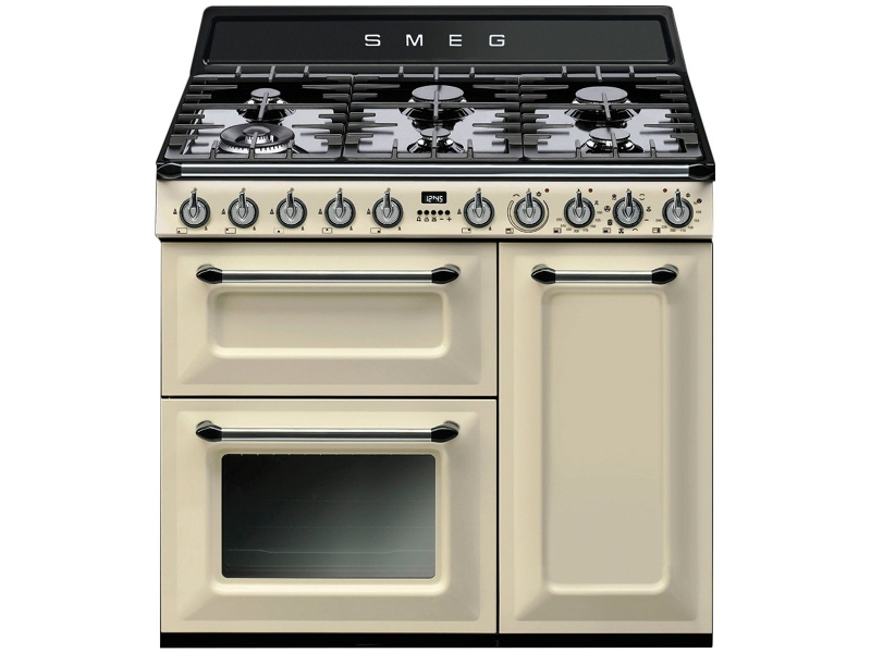 Smeg TRA93P 90cm Victoria Aesthetic Freestanding Dual Fuel Oven/Stove