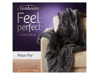Appliances Online Sunbeam Feel Perfect Faux Fur Heated Throw TRF4300