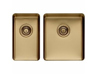 Appliances Online Titan Small and Medium Bowl Sink Brass TSBR2840