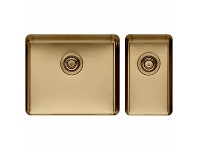 Appliances Online Titan Large and Small Bowl Sink Brass TSBR5228
