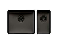 Appliances Online Titan Large and Small Bowl Sink Black Steel TSBS5228