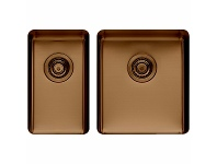 Appliances Online Titan Small and Medium Bowl Sink Cognac TSCG2840