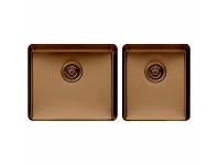 Appliances Online Titan large and Medium Bowl Sink Cognac TSCG4052
