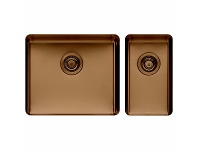 Appliances Online Titan Large and Small Bowl Sink Cognac TSCG5228