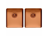Appliances Online Titan Medium and Medium Double Bowl Sink Copper TSCP4040