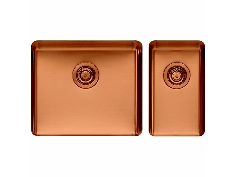 Titan Large and Small Bowl Sink Copper TSCP5228