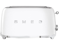 Appliances Online Smeg TSF02WHAU White 50s Retro Style 4 Slice Toaster