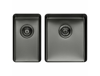 Appliances Online Titan Small and Medium Bowl Sink Gunmetal TSGM2840