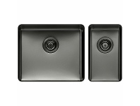 Appliances Online Titan Large and Small Bowl Sink Gunmetal TSGM5228