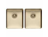 Appliances Online Titan Medium and Medium Double Bowl Sink Pearl Gold TSPG4040