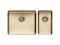Appliances Online Titan Large and Small Bowl Sink Pearl Gold TSPG5228