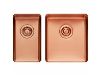 Appliances Online Titan Small and Medium Bowl Sink Rose Gold TSRG2840