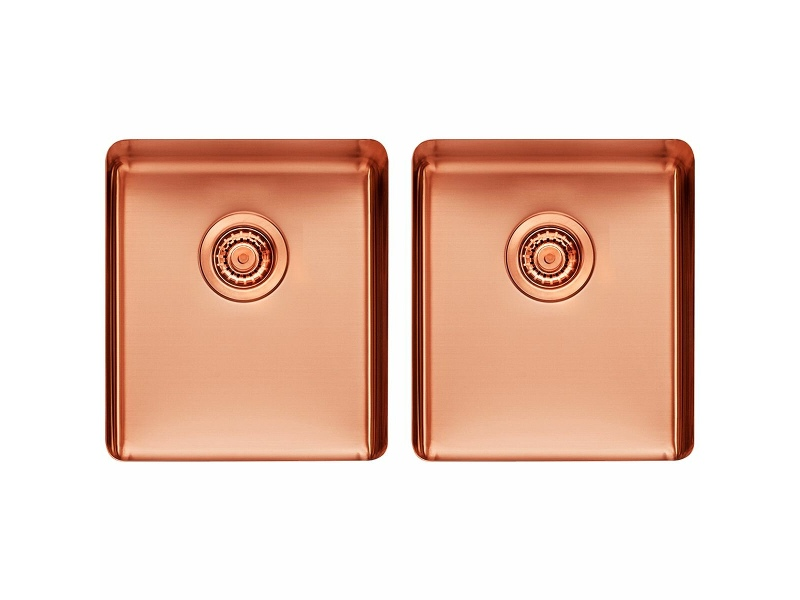 Titan Medium and Medium Double Bowl Rose Gold TSRG4040