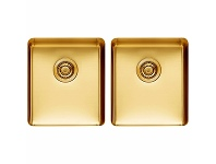 Appliances Online Titan Medium and Medium Double Bowl Sink Royal Gold TSRY4040