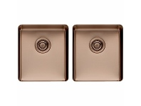 Appliances Online Titan Medium and Medium Double Bowl Sink Sunstone TSSN4040