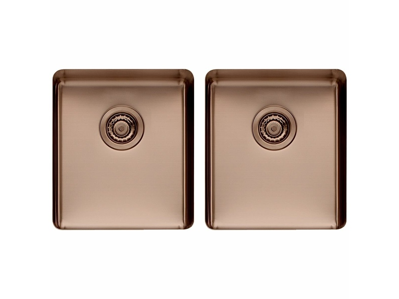 Titan Medium and Medium Double Bowl Sink Sunstone TSSN4040