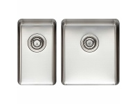Appliances Online Titan Small and Medium Bowl Sink Brushed Steel TSSS2840