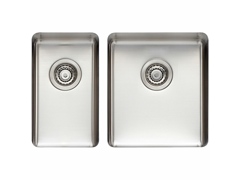 Titan Small and Medium Bowl Sink Brushed Steel TSSS2840
