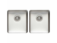 Appliances Online Titan Medium and Medium Double Bowl Sink Brass TSSS4040