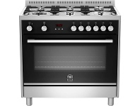 Appliances Online La Germania TUS96C61LBX 90cm Futura Series Freestanding Dual Fuel Oven/Stove