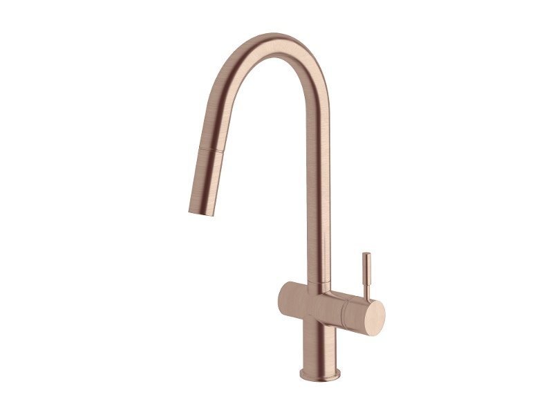 Sussex Taps VSMPO-06 Brushed Rose Gold Voda Pull Out Sink Mixer Tap