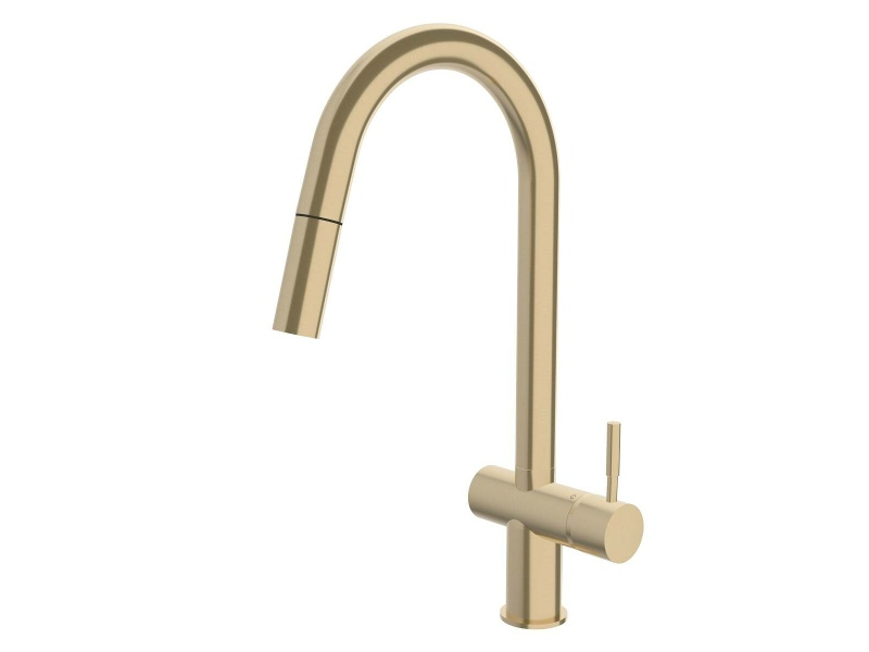 Sussex Taps Voda Sink Mixer Pullout Brushed Brass Gold VSMPO-40