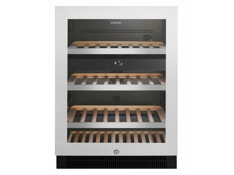 Vintec 50 Bottle Dual Zone Wine Storage Cabinet Stainless Steel VWD050SSB