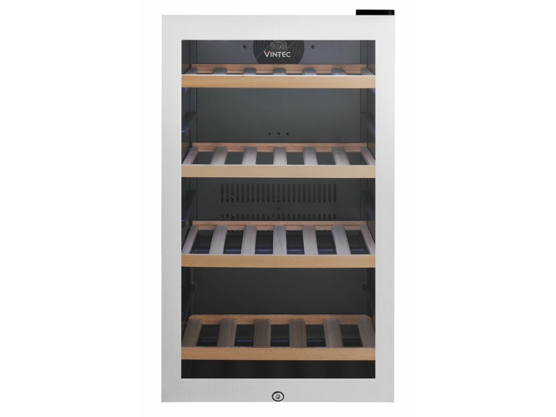 Vintec 35 Bottle Single Zone Wine Cabinet Stainless Steel VWS035SSB