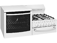 Appliances Online Westinghouse WDG101WBNG-L Elevated Natural Gas Stove/Oven