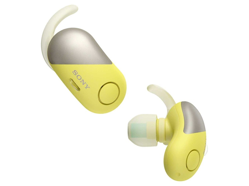 Sony WFSP700NY Wireless Noise Cancelling Bluetooth In Ear Headphones Yellow