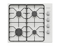 Appliances Online Westinghouse 60cm 4 Burner Natural Gas Cooktop White Enamel WHG640WC