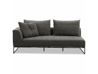 Kalona VAEROY Left Arm Facing Sofa with Upholstered Cover Pewter WS-208-01-VILA-27