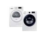 Appliances Online Samsung 7.5kg/8kg Laundry Package WW75K54E0UWDV80M5010