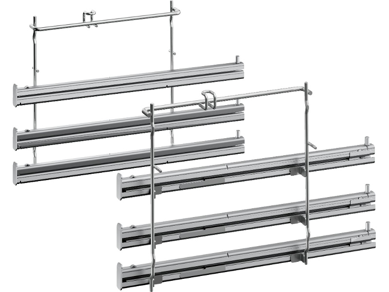 NEFF Z11TF36X0 Full Extension Telescopic Rails 3-Level Stainless Steel
