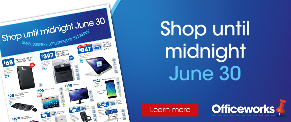 Officeworks - 22nd - 27th June