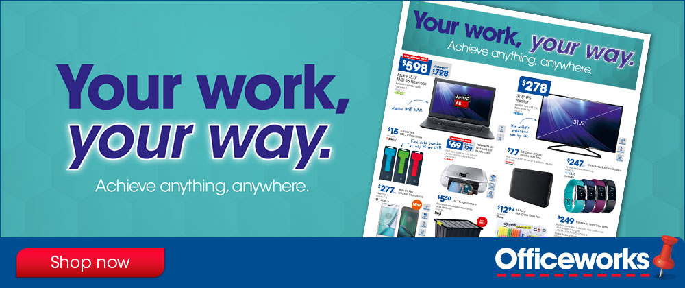 Officeworks - 26th October - 1st November