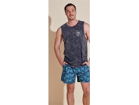 Mens Acid Wash Muscle Top Sizes S-2XL