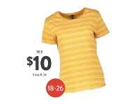 Best & Less Stripe Tee Womens Sizes 8-26