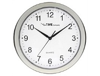 Briscoes NZ The Time Company Basic Wall Clock Pewter 31cm