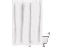 Briscoes NZ Just Home Shower Curtain Raute White 180x180cm