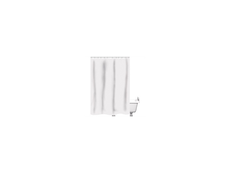 Just Home Shower Curtain Raute White 180x180cm