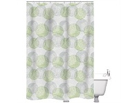 Briscoes NZ Just Home Shower Curtain Origin Greenery 180x180cm