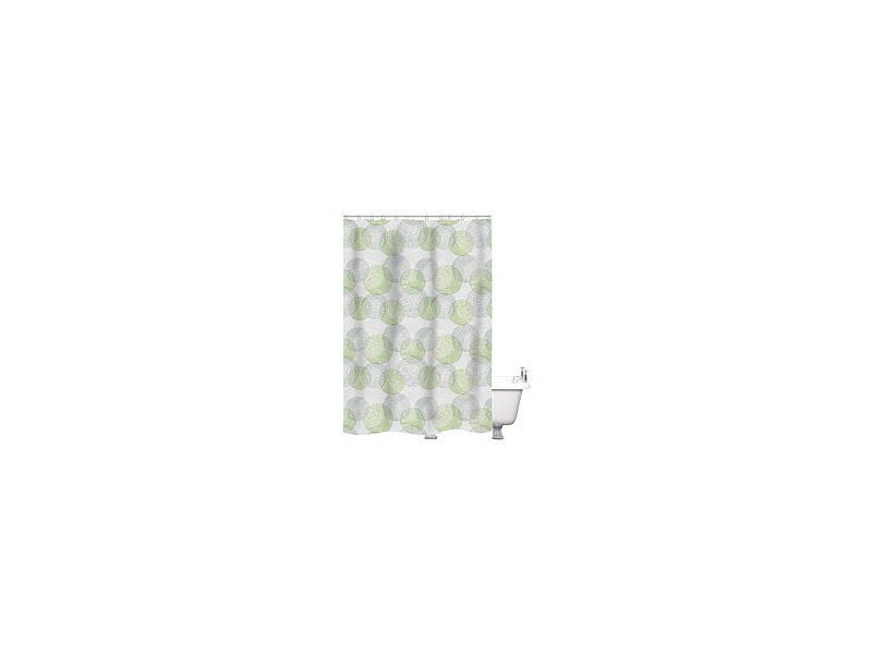 Just Home Shower Curtain Origin Greenery 180x180cm