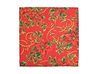 Briscoes NZ Essential Collection Poinsetta Bows Napkin Red 45x45cm S/4