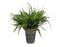Briscoes NZ Artificial Boston Fern in Tin Pot 35cm