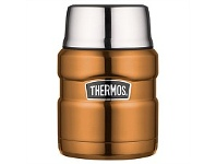 Briscoes NZ Thermos Stainless Steel Food Flask Copper 470ml