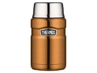 Briscoes NZ Thermos Stainless Steel Food Flask Copper 710ml