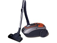 Briscoes NZ Zip Power Force Bag Vacuum Cleaner Grey/Orange 2000W ZIP468