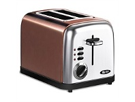 Briscoes NZ Zip Metalic Toaster Copper Colour 2 Slice ZIP471